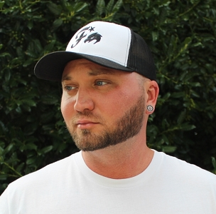 White/Black Logo Firing Squad Hat