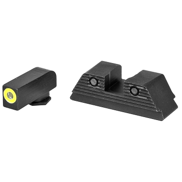 YELLOW AmeriGlo, Trooper, Sight, Fits Glock MOS, 17,19,22,23,24,26,27,33,34,35,37,38,39