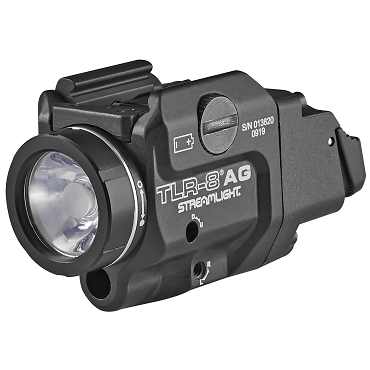 Streamlight, TLR-8A G Flex, Black Finish, 500 Lumens, 1.5 Hour Runtime, Green Laser, Comes with High and Low Switch