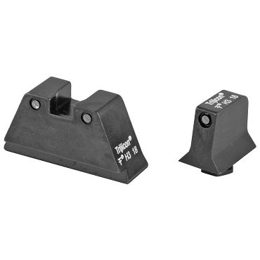 Trijicon, Bright & Tough, Sight, Suppressor Set, Fits Glock 20,21,29,30 and 41 (including S and SF variants), Black Front/Black Rear with Green Lamps