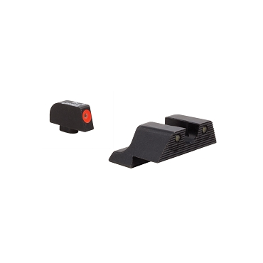 Trijicon, HD XR Night Sight Set, 3 Dot Green Tritium With Orange Front Outline