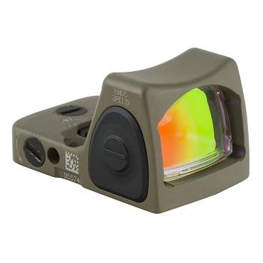 Trijicon, RMR, Type 2, Red Dot, Adjustable, FDE, 3.25 MOA