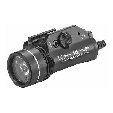 Streamlight, TLR-1 HL, C4 LED, 1000 Lumens, Strobe, Black, 2x CR123 Batteries