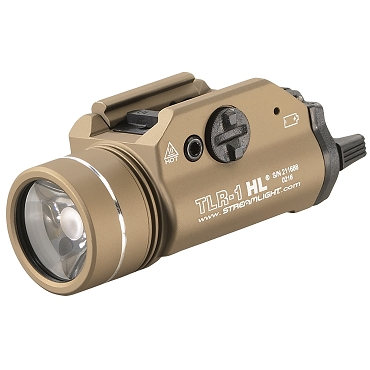 Streamlight, TLR-1 HL, Flat Dark Earth, C4 LED 1000 Lumens With Strobe, 2x CR123 Batteries