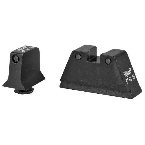 Trijicon, Suppressor Tall Height Sights Set, Black Front/Black Rear with Green Lamps