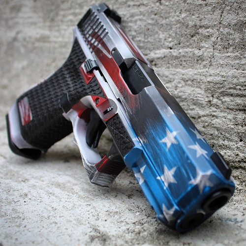 Old Glory customization package for your gen 5 Glock 19